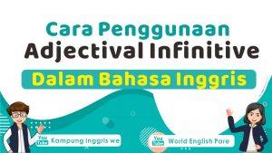 Adjectival infinitive dalam bahasa inggris