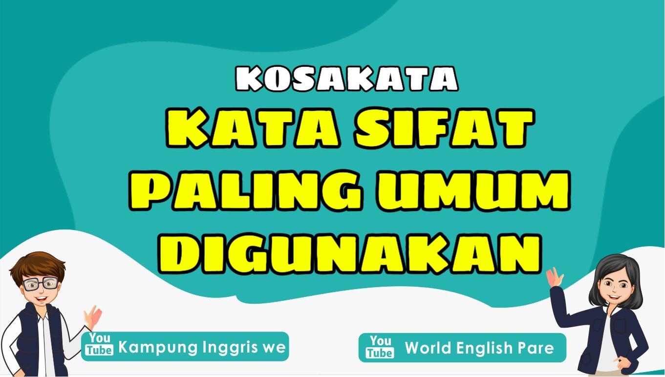 Kata sifat bahasa inggris