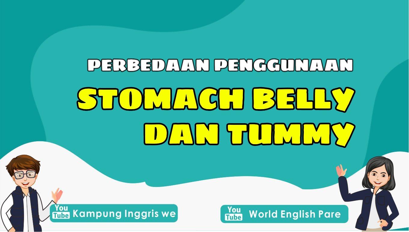 Apa Sih Perbedaan Penggunaan Kata Stomach, Belly dan Tummy?